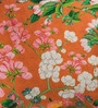 Orange Cotton 16 x 16 Inch HD Digital Premium Floral Cushion Covers - Set of 2 by SEJ By Nisha Gupta