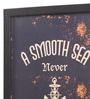 Glass, Fibre & Paper 8 x 1 x 12 Inch A Smooth Sea Never Made A Skilled Sailor Framed Poster by Seven Rays