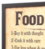 Seven Rays Glass, Fibre & Paper 8 x 1 x 12 Inch Food Don'T Waste It Framed Poster