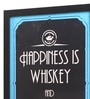 Seven Rays Glass, Fibre & Paper 8 x 1 x 12 Inch Happiness Is Whiskey & Tandoori Chicken Framed Poster