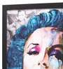 Glass, Fibre & Paper 8 x 1 x 12 Inch Marilyn Monroe Pop Art Blue Framed Poster by Seven Rays