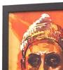 Glass, Fibre & Paper 8 x 1 x 12 Inch Shivaji Framed Poster by Seven Rays