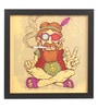 Glass, Fibre & Paper 8 x 1 x 8 Inch Peace Baba Pin Up Framed Digital Art Print by Seven Rays