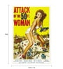 Seven Rays Paper 12 x 1 x 18 Inch Attack Of The 50Ft Woman Unframed Poster