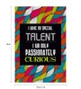 Seven Rays Paper 12 x 1 x 18 Inch Passionately Curious Unframed Poster