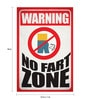 Paper 12 x 1 x 18 Inch Warning No Fart Zone Unframed Poster by Seven Rays