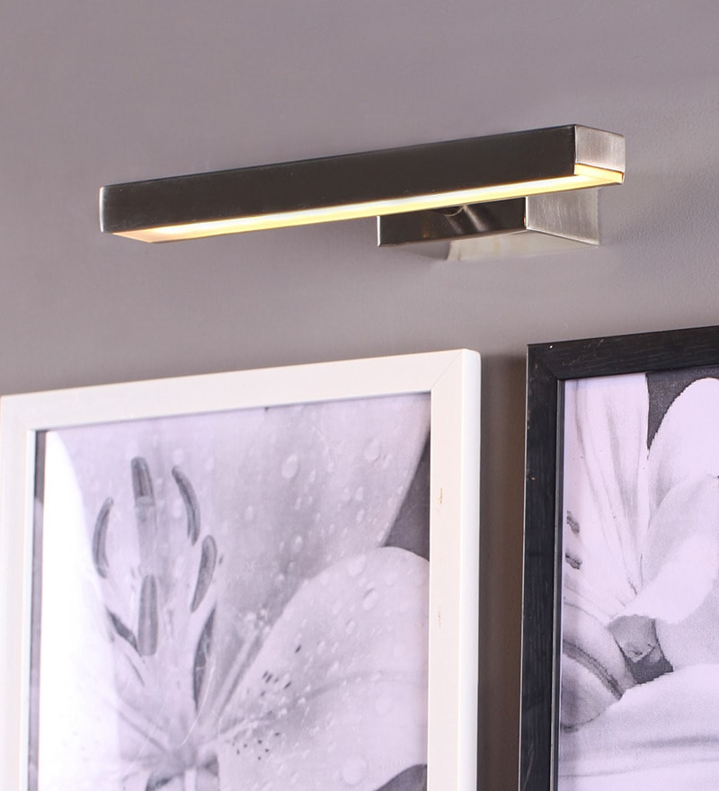 Silver LED Wall Light by SGC