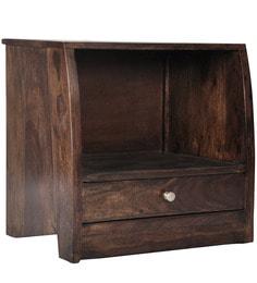 Belem Wood Open Shelf Bedside Table In Provincial Teak Finish