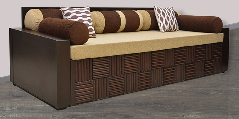 Shine Sofa Cum Bed in Brown Colour by HomeTown