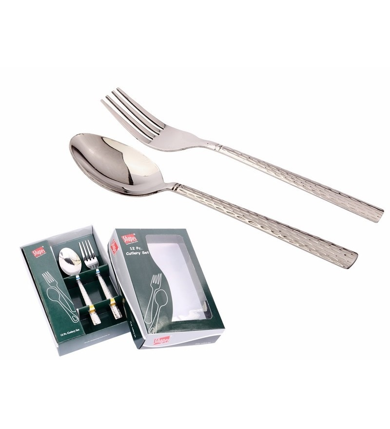 Shapes Feast Stainless Steel Cutlery - Set of 12