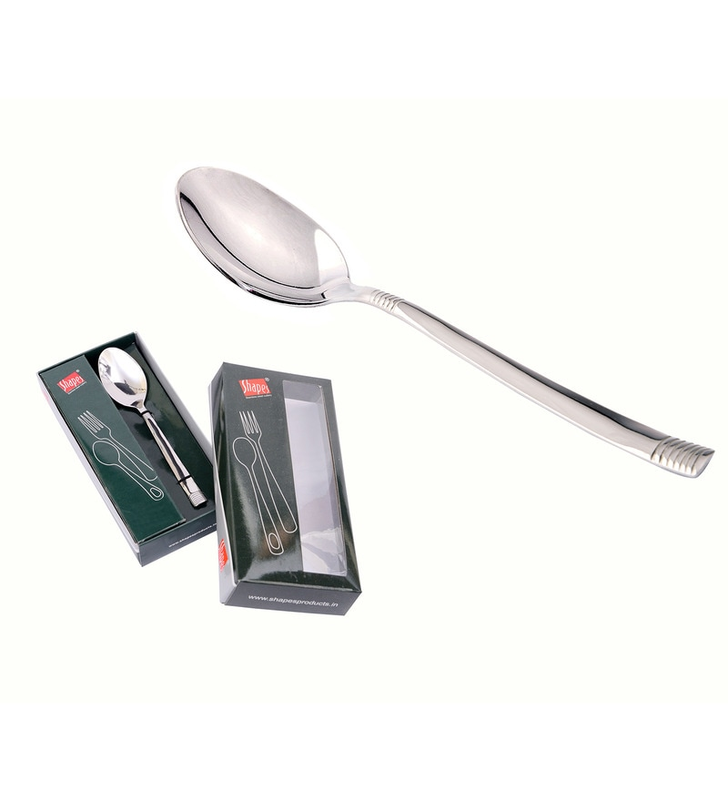Shapes Lynex Stainless Steel Dinner Spoon - Set of 12