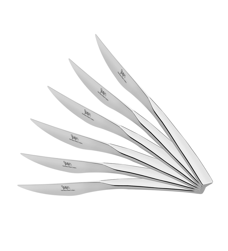 Shapes Rio Silver Stainless Steel Dinner Knife - Set of 6