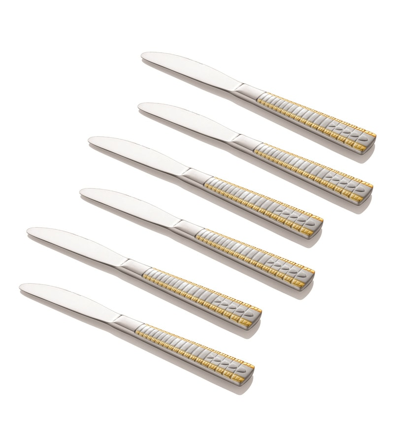 Shapes Royal Garden Stainless Steel Dinner Knife - Set of 6