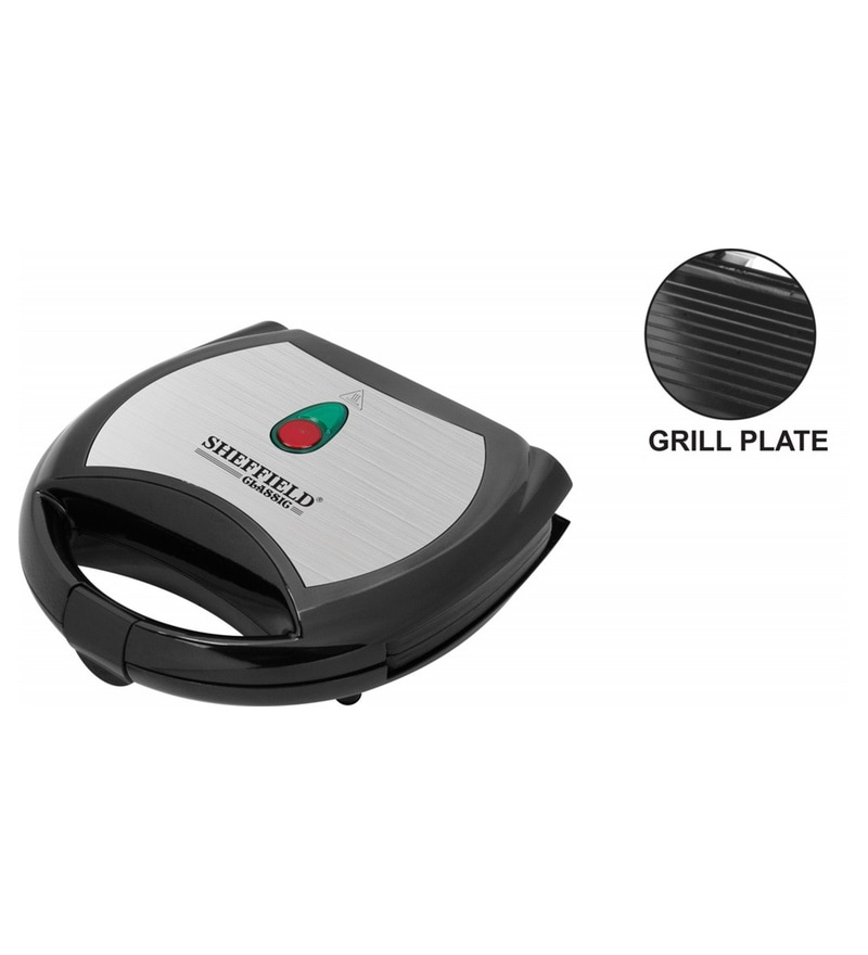 Sheffield Classic Grill 1000 W Sandwich Toaster