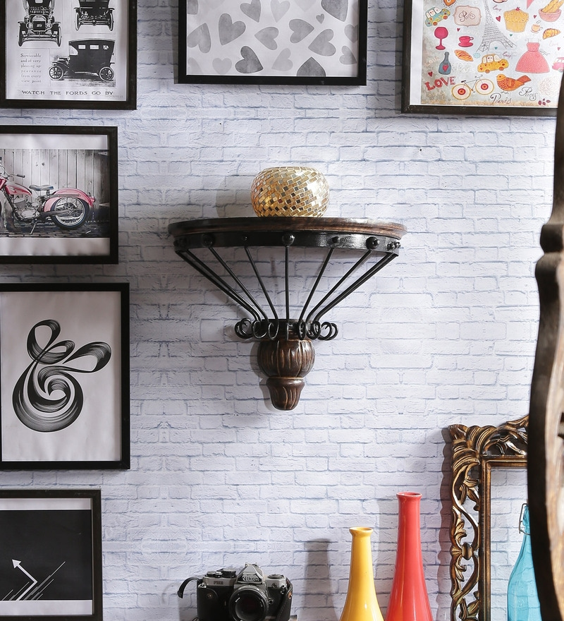 Wilberforce Colonial Wall Shelf in Brown by Dream Arts