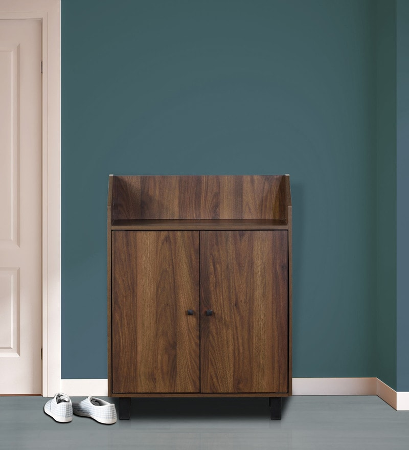 Two Door Shoe Cabinet in Wenge Finish by DHEP Furniture