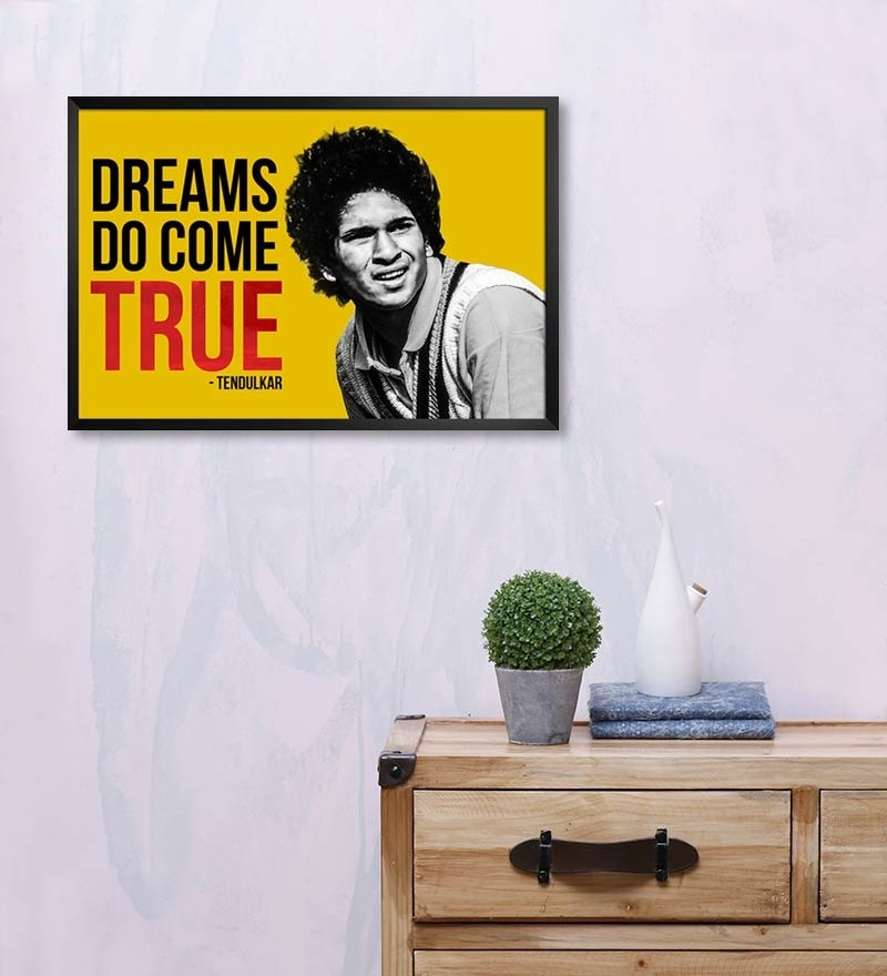 MDF 19 x 13 Inch Sachin Tendulkar Laminated Framed Poster by Shop Mantra
