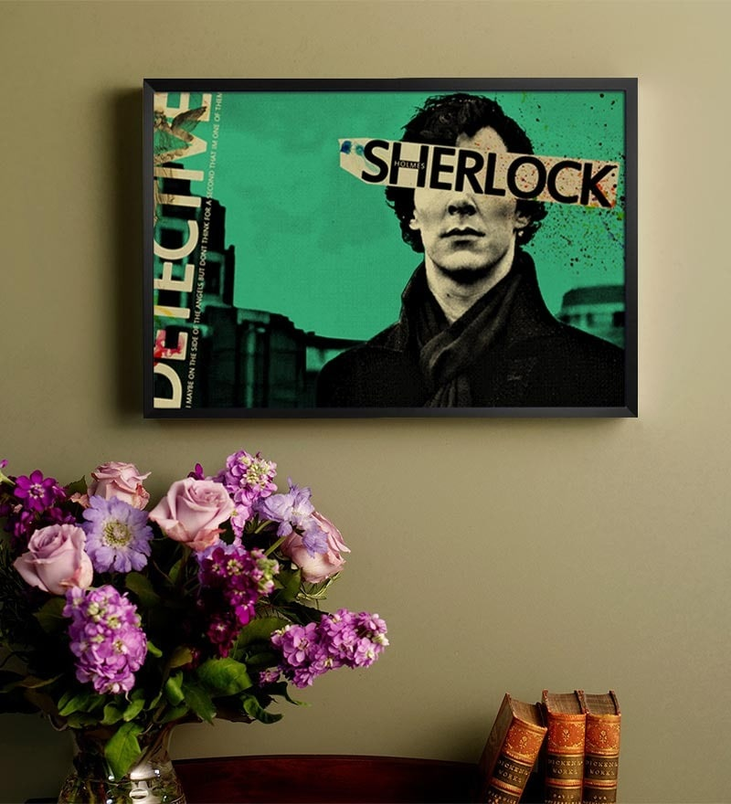 MDF 19 x 13 Inch Sherlock Laminated Framed Poster by Shop Mantra