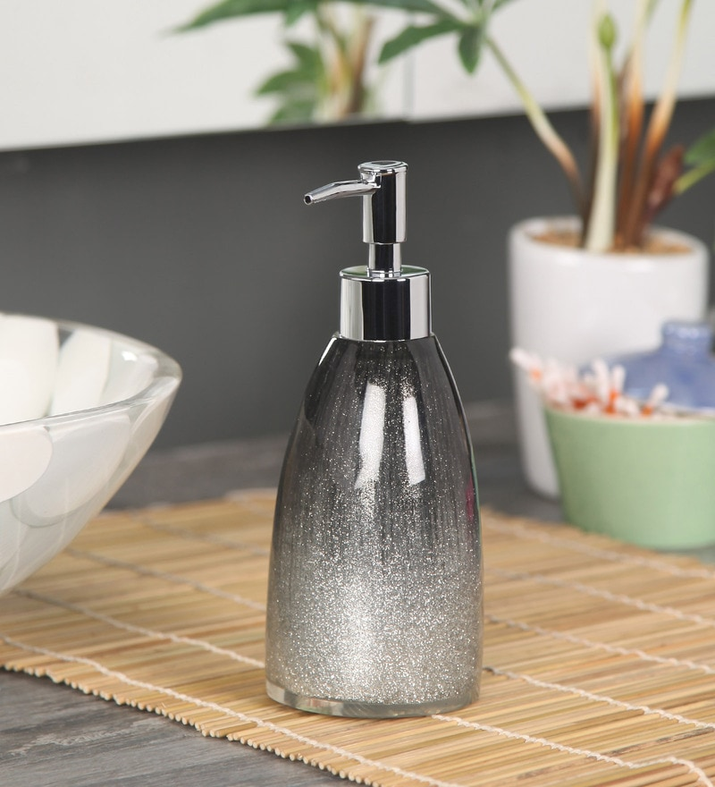Shresmo Grey Polyresin Soap Dispenser