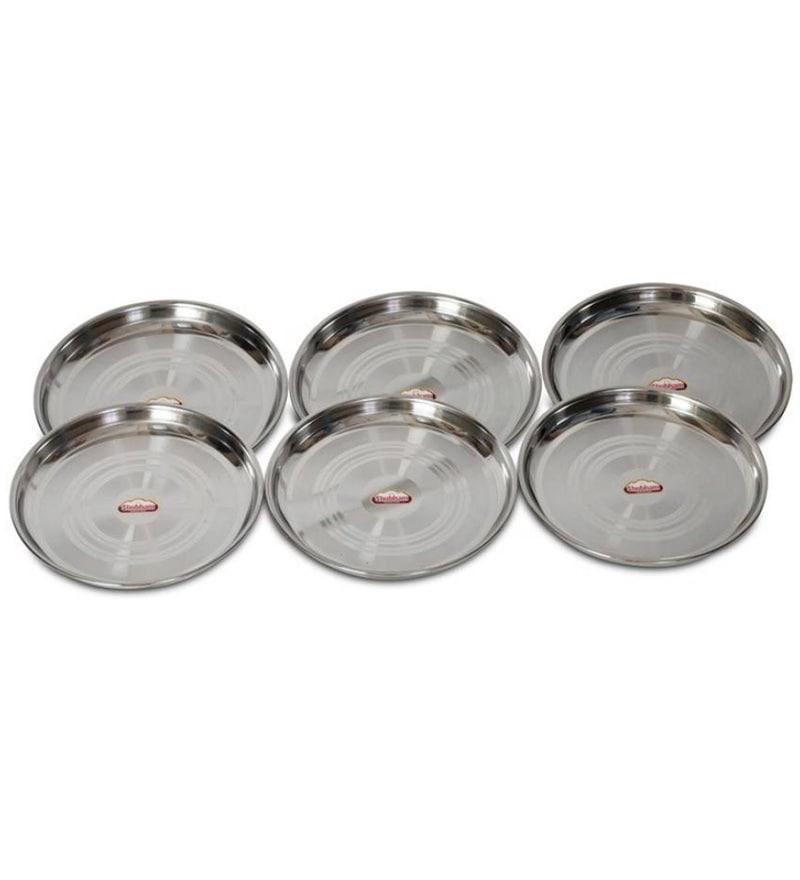 Shubham Small Stainless Steel Designer Thali - Set of 6