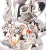 Shaze Silver Brass Luminant Ganesha Idol