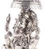 Shaze Resin with Silver Plating Chatar Ganesha Idol