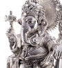 Shaze Resin with Silver Plating Ganesha on Lotus Idol