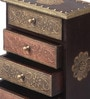 Shinexus Multicolour Solid Wood Embossed 4 Drawer Box Collectible