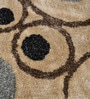Beiges Polyester Abstract Floral Art Area Rug by Shobha Woollens