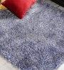 Shobha Woollens Blue & White Polyester Area Rug