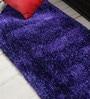 Blue Polyester Runner by Shobha Woollens