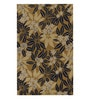 Brown Wool Abstract Area Rug by Shobha Woollens