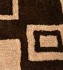 Shobha Woollens Browns Polyester Lattice Area Rug