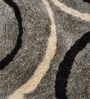 Greys Polyester Floral Rectangular Area Rug by Shobha Woollens