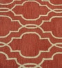 Reds Wool Ethnic Area Rug by Shobha Woollens