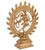 Gold Brass Natraj Idol by ShopEndHere