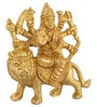 ShopEndHere Gold Brass Shera Mata Idol