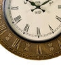Gold MDF 18 Inch Round Brass Fitted Analog Wall Clock by ShriNath