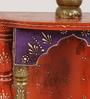 ShriNath Multicolour MDF Wall Handmade Emboss Temple