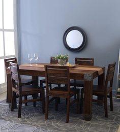 Siena-Sorano Six Seater Dining Set In Walnut Finish