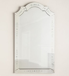 Silver Glass & MDF Mabel Venetian Mirror