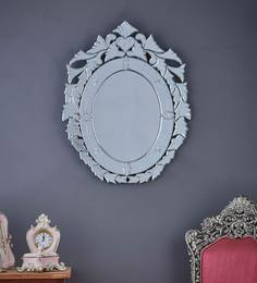 Silver Glass Eleanor Oval  Mirror