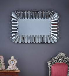 Silver Glass Flip Flop Wall Mirror