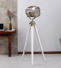 Silver Metal Floor Tripod Lamp - 1711238