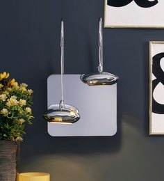 Silver Metal Wall Light - 1655168