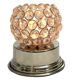 Silver Steel Ball Crystal Lamp Tea Light