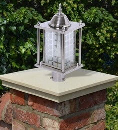 Silver Steel Outdoor Gate Light