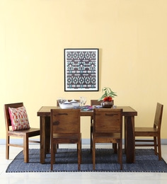 Acropolis Six Seater Dining Set In Provincial Teak Finish
