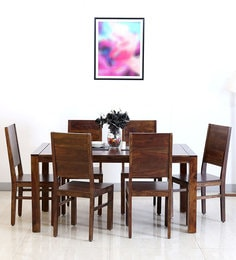 Oriel Six Seater Dining Set In Provincial Teak Finish