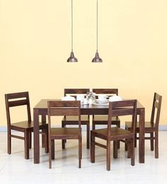 Enkel Six Seater Dining Set In Provincial Teak Finish
